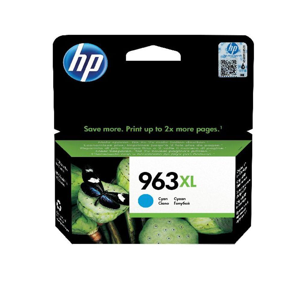 HP 963XL Original Ink Cartridge HY Cyan (Capacity: 1600 pages) 3JA27AE