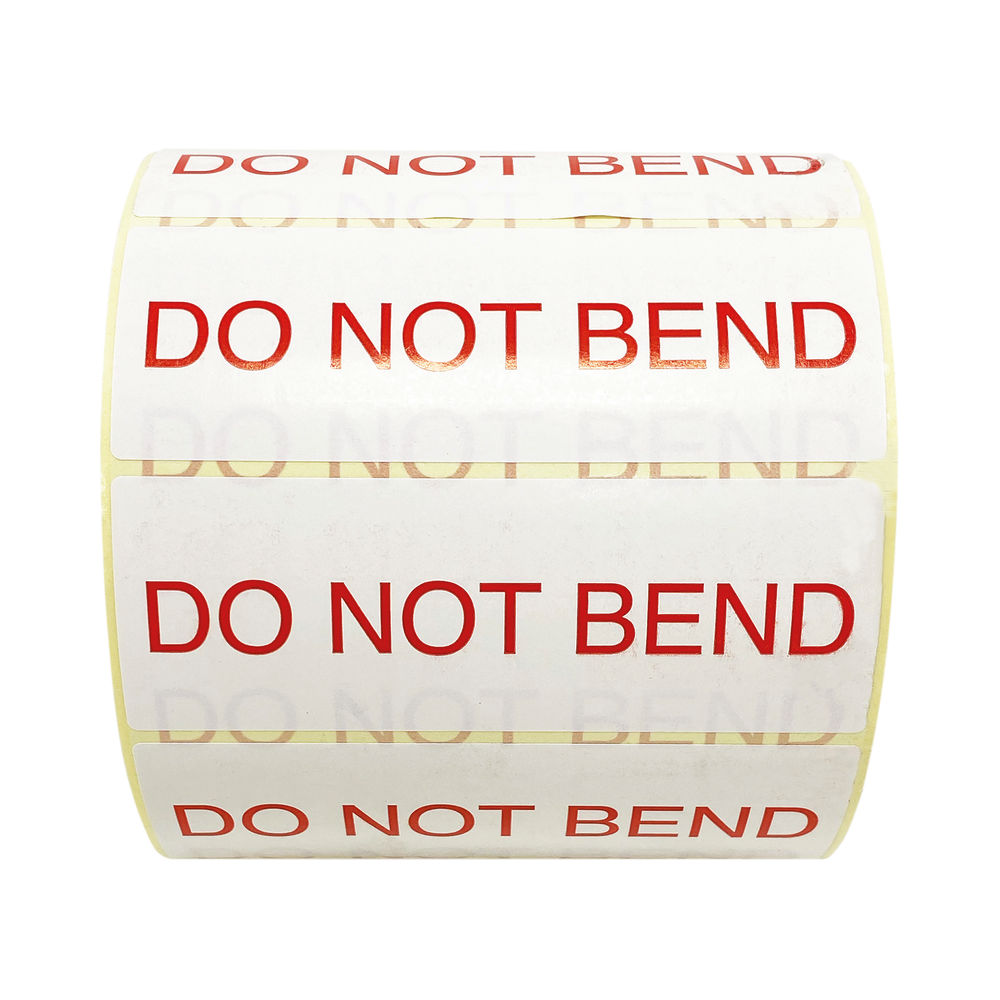 Do Not Bend Thermal Transfer Labels 101mm x 36mm 1000 Per Roll MA07626