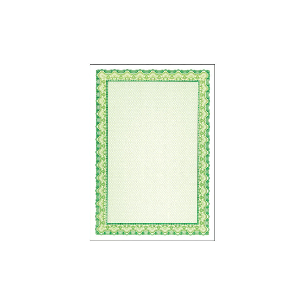 DECAdry A4 Emerald Green Shell Certificate Paper, 115gsm, Pack of 25 - OSD4054