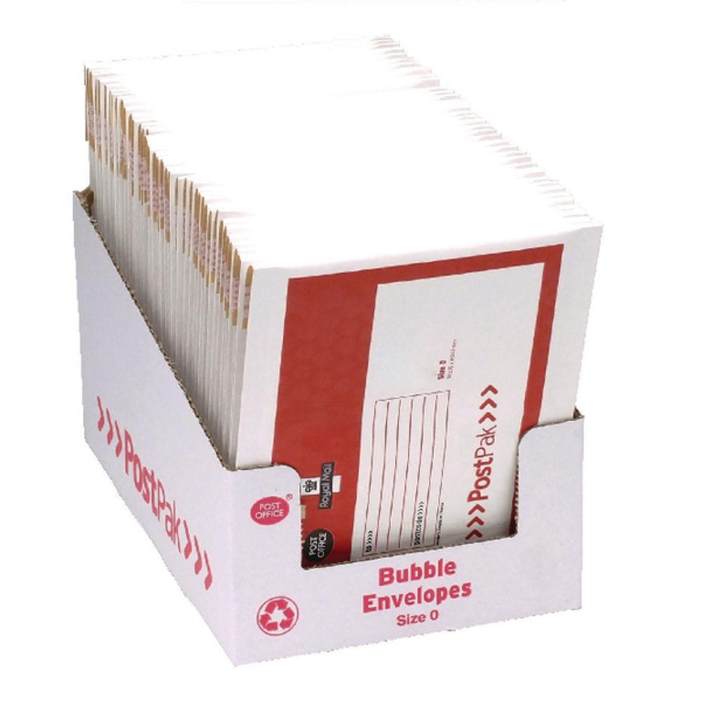 Post Office Postpak Size 0 Bubble Envelopes (Pack of 40) 41629