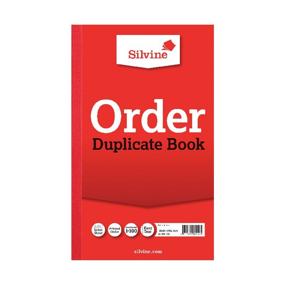 Silvine Carbon Order 210 x 127mm Duplicate Book, Pack of 6 - 610