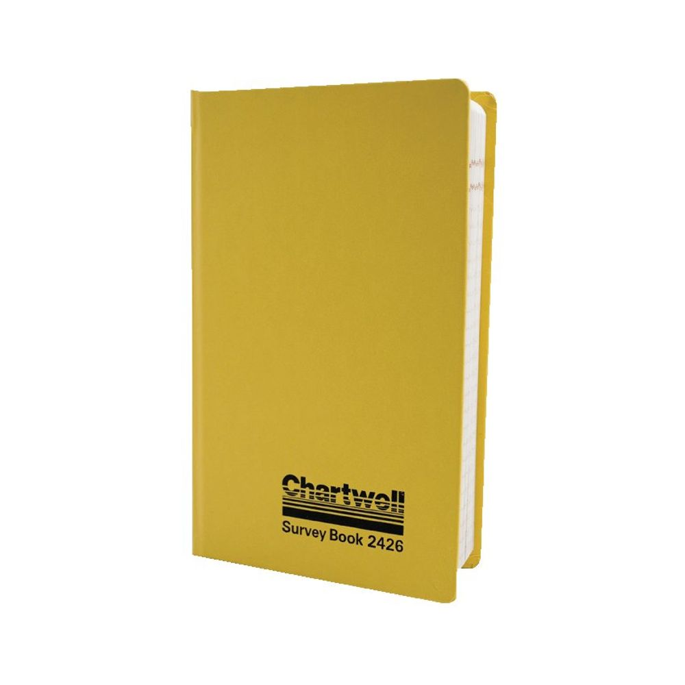Chartwell Yellow Survey Collimation Level Book, 192 x 120mm, 160 Pages - 2426