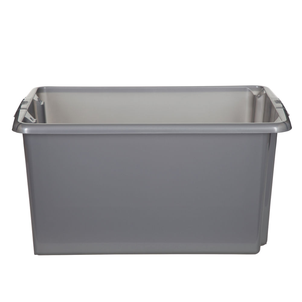 Stack and Store Silver Small Storage Box - S01S800