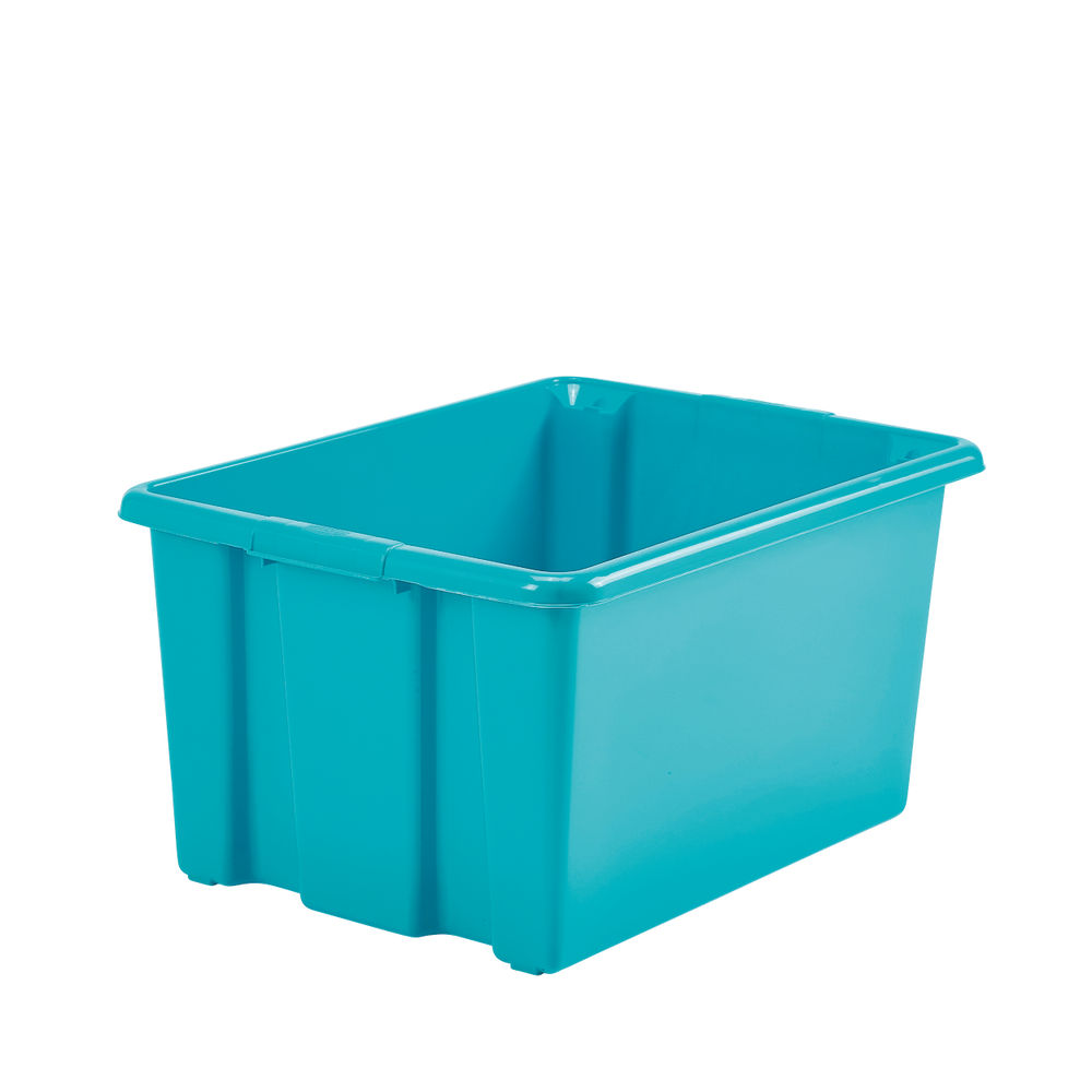Stack And Store 32 Litres Medium Teal Storage Box S01M809