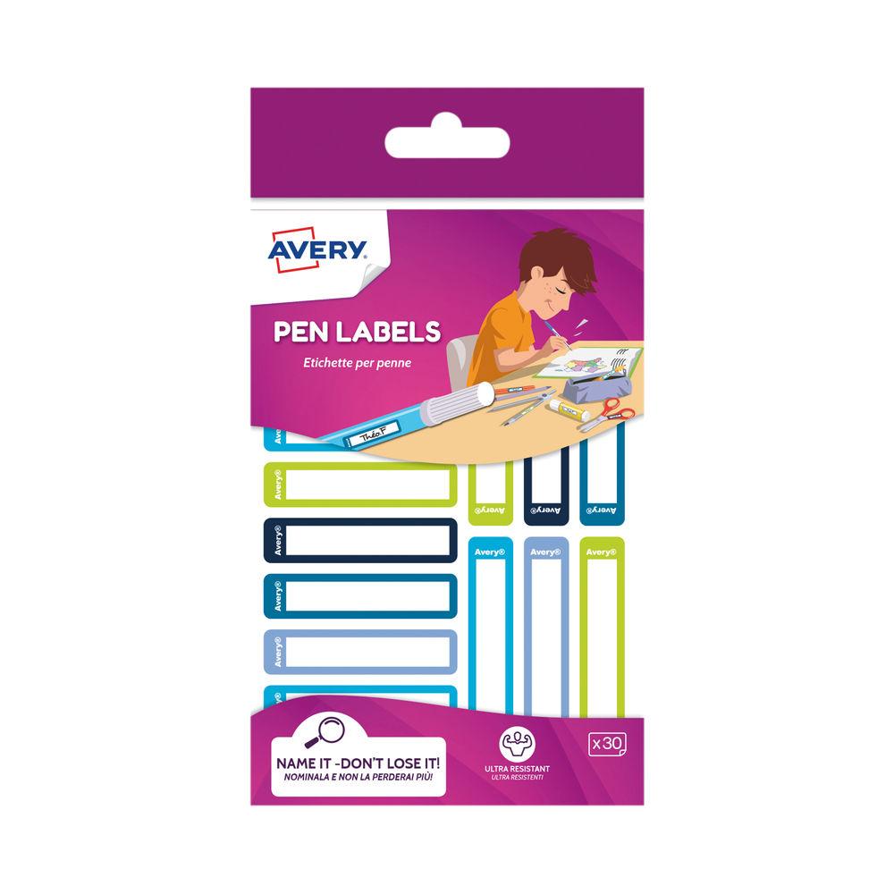 Avery U/Res Removable Pen Labels Green/Blue (Pack of 30) RESMI30G.UK