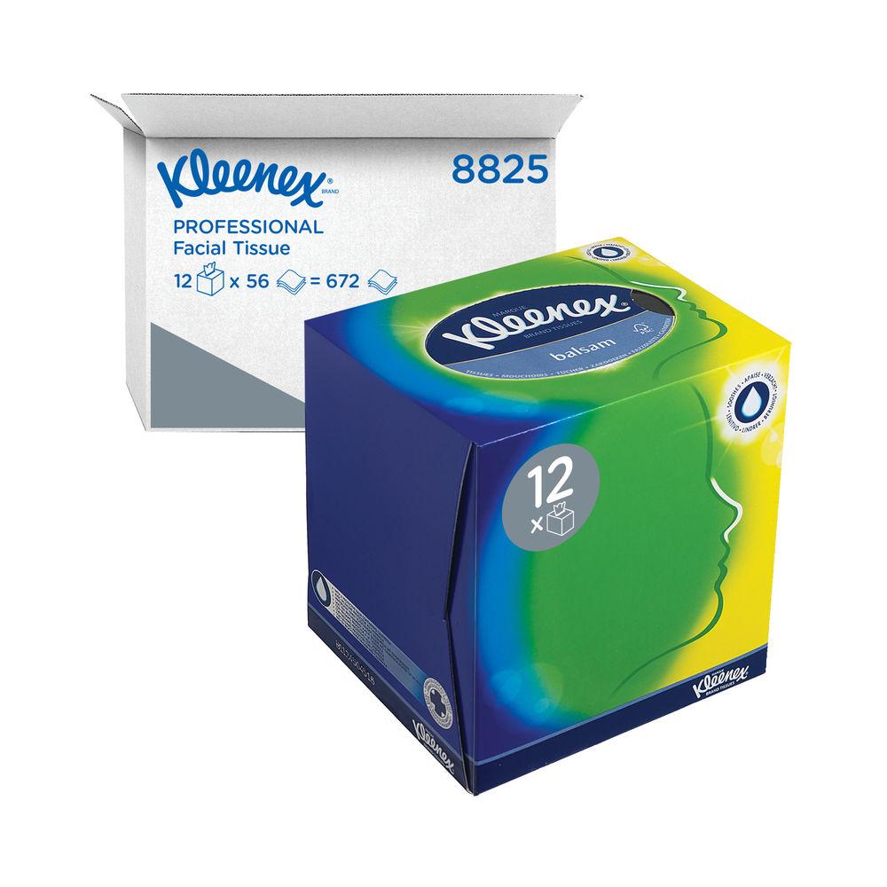 Kleenex Balsam Facial Tissues Cubes, Pack of 12 - 8825