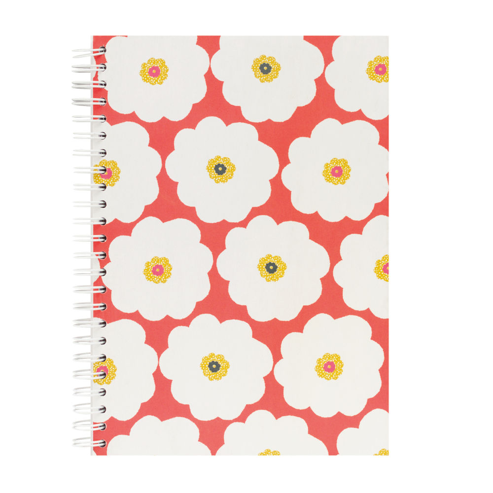 Go Stationery A5 Large Flower Coral Bloom Notebook | 5NC201A