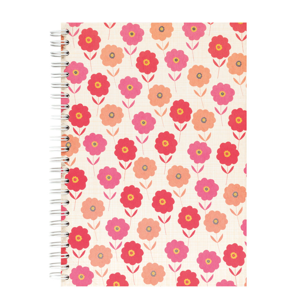 Go Stationery A5 Coral Bloom Notebook | 5NC201