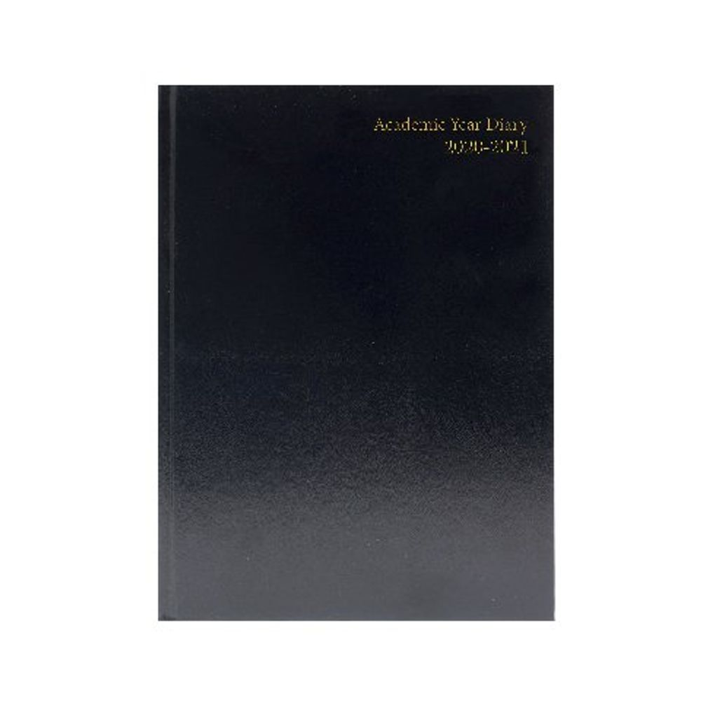 Academic Diary Week to View A4 Black 2020-21 KF3A4ABK20