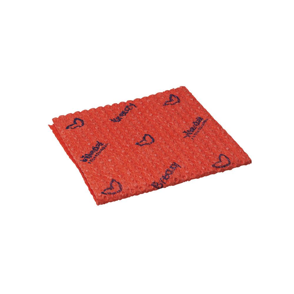 Vileda Red Breazy Microfibre Wave Cloths, Pack of 25 - 0707221