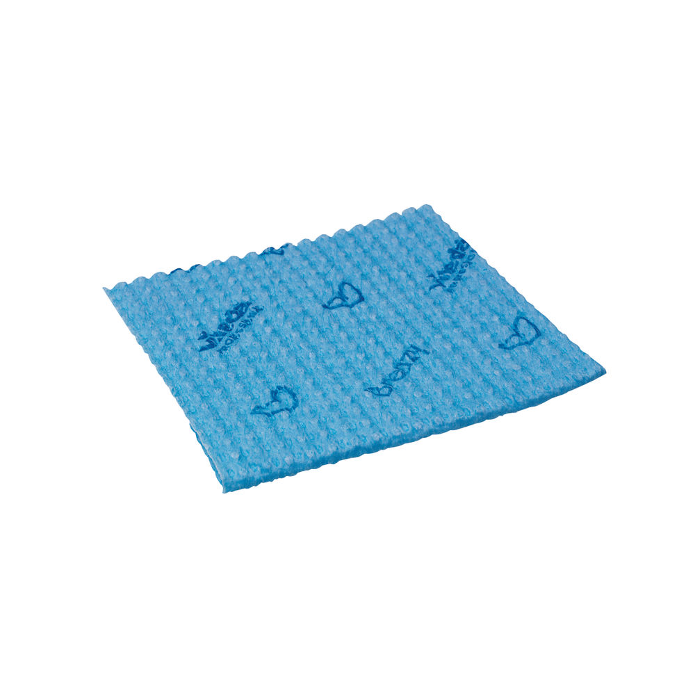 Vileda Blue Breazy Microfibre Wave Cloths, Pack of 25 - 0707220