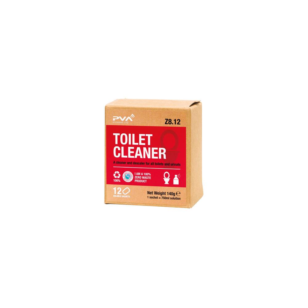 PVA Toilet Cleaner Sachets, Pack of 12 - PVAA8-12