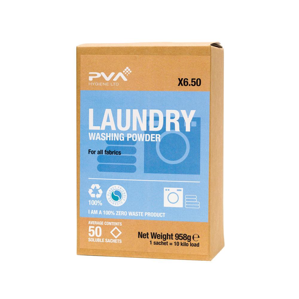 PVA Laundry Washing Powder Sachets, Pack of 50 - PVAA6-50
