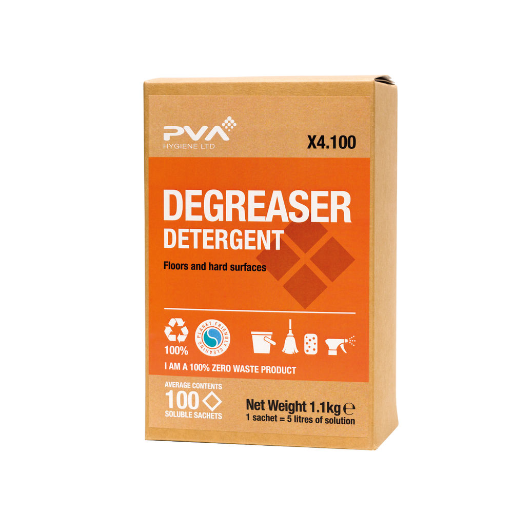PVA Degreaser Detergent Sachets, Pack of 100 - PVAA4-10