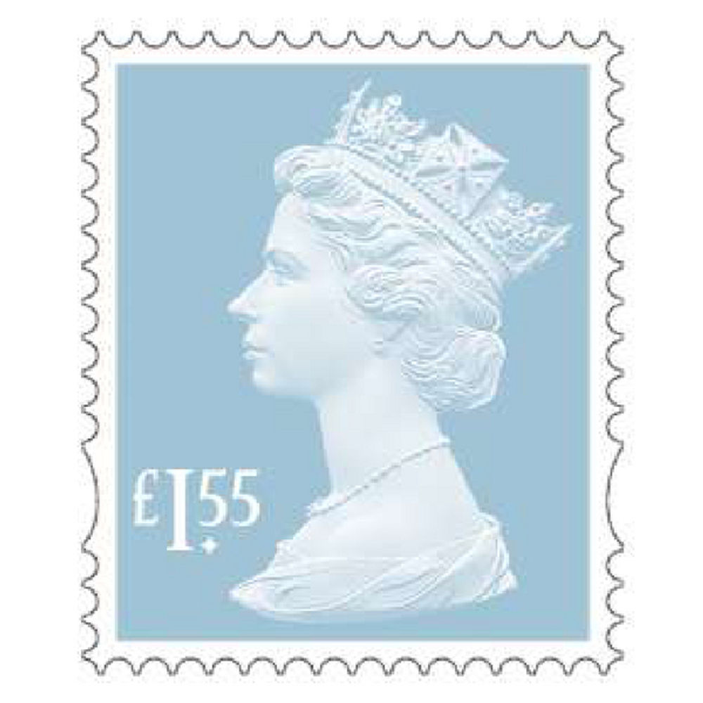Royal Mail £1.55 Postage Stamps x 25 Pack (Self Adhesive Stamp Sheet)