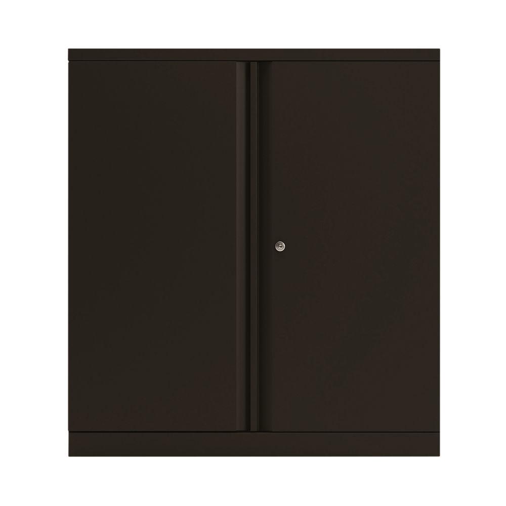 Bisley 1000mm Black 2 Door Empty Cupboard - BY78711