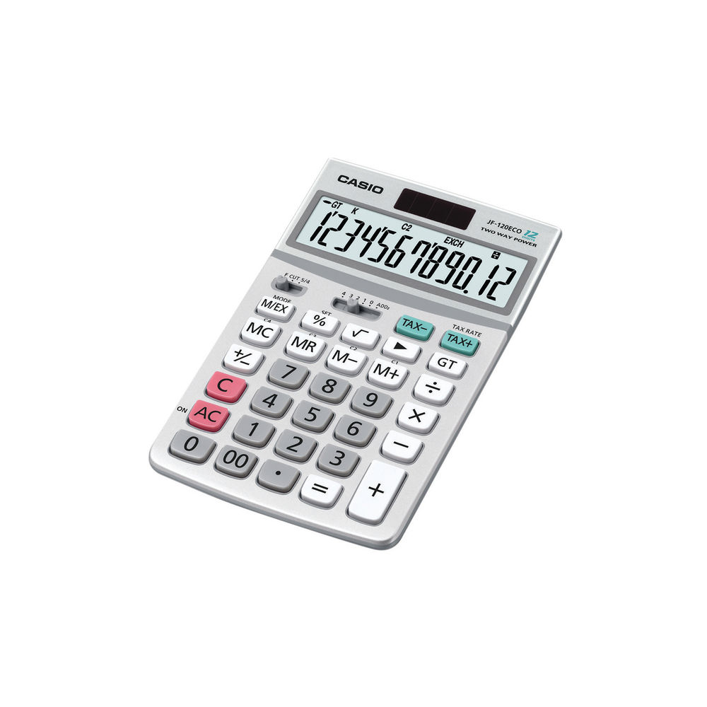 Casio 12-Digit Display Desktop Calculator JF-120ECO