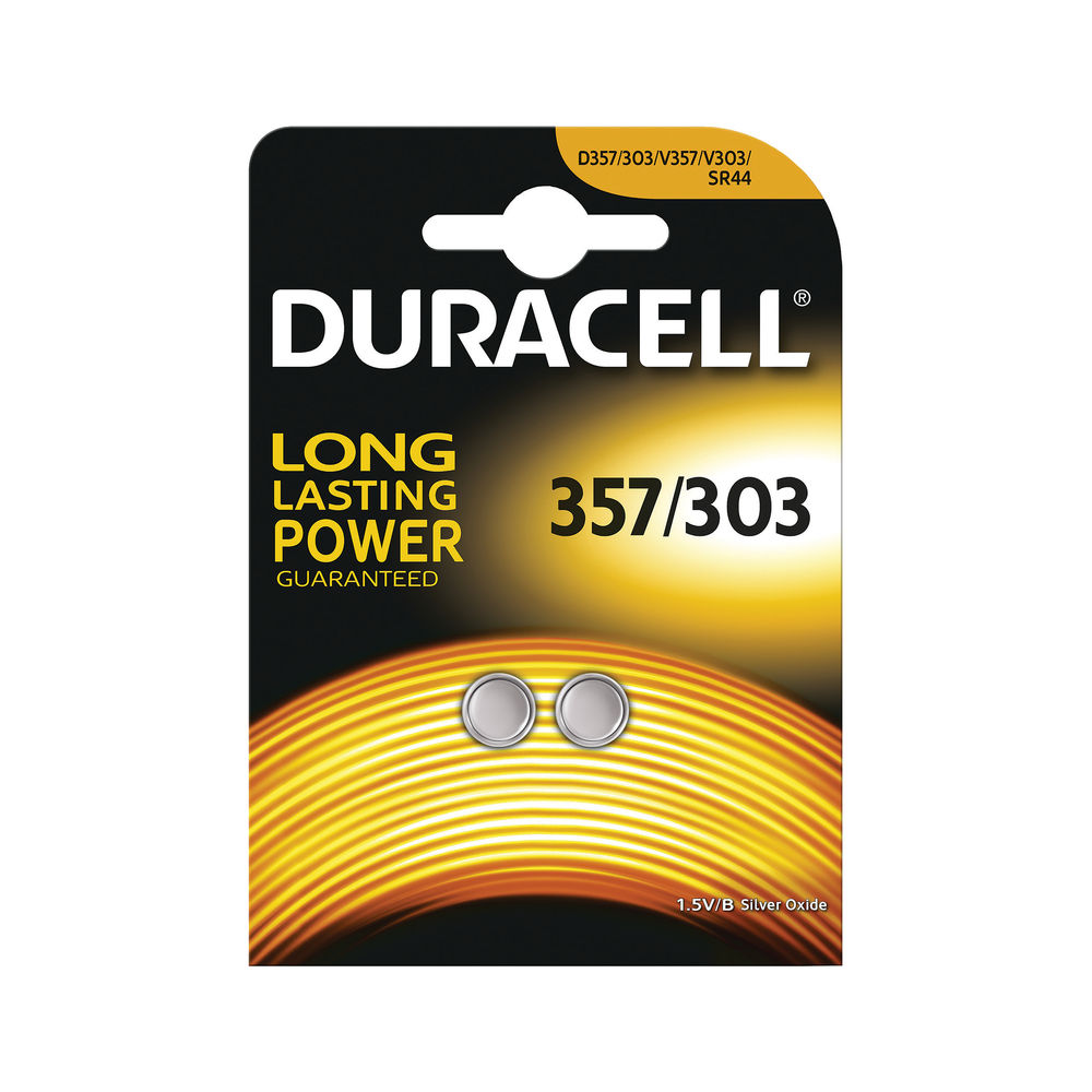 Duracell Silver Oxide Button 1.5v Batteries, Pack of 2 - D357H 2
