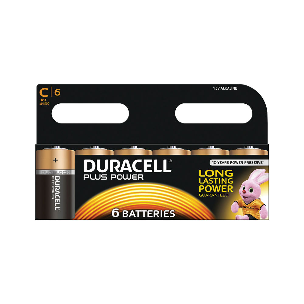 Duracell C Plus Batteries, Pack of 6 - 81275434