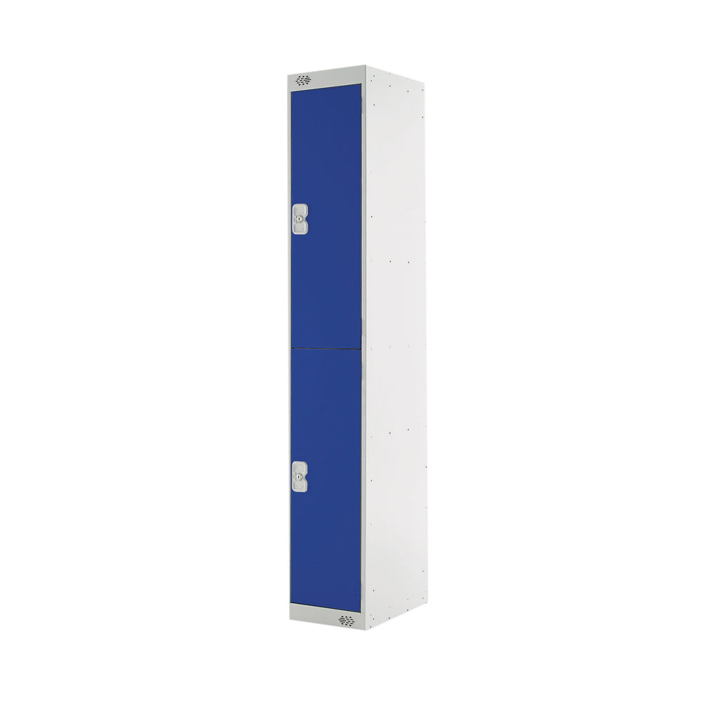 Two Compartment D450mm Blue Express Standard Locker - MC00154