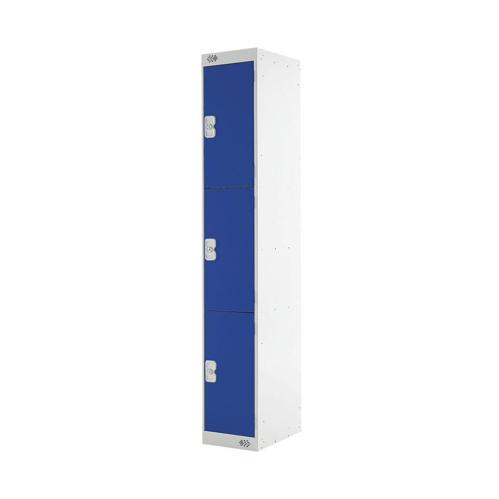 Three Compartment D450mm Blue Express Standard Locker - MC00157