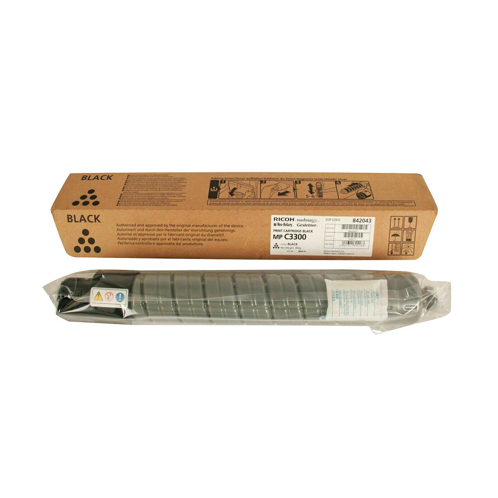 Ricoh Black Print Toner Cartridge for Aficio MP C3300 842043