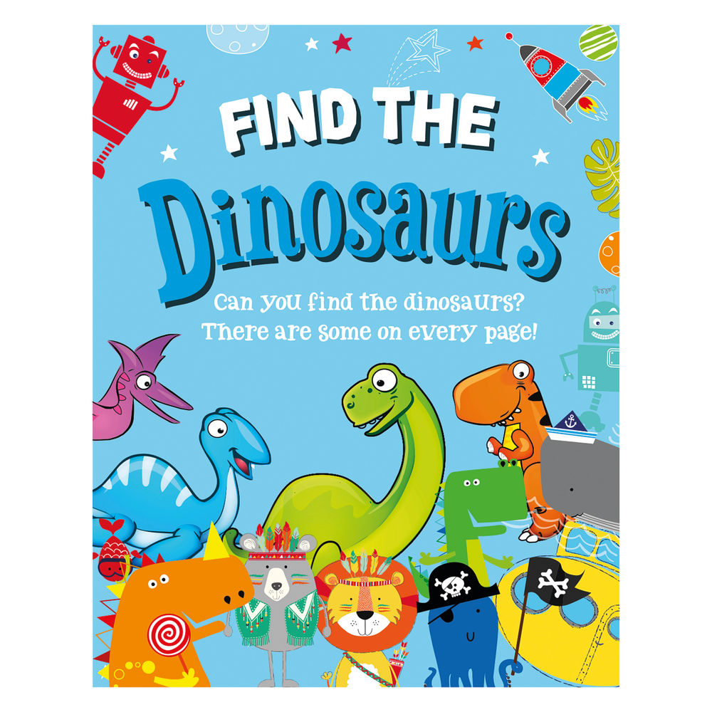 Find the Dinosaurs Activity Book (Pack of 12) 27072-DINO