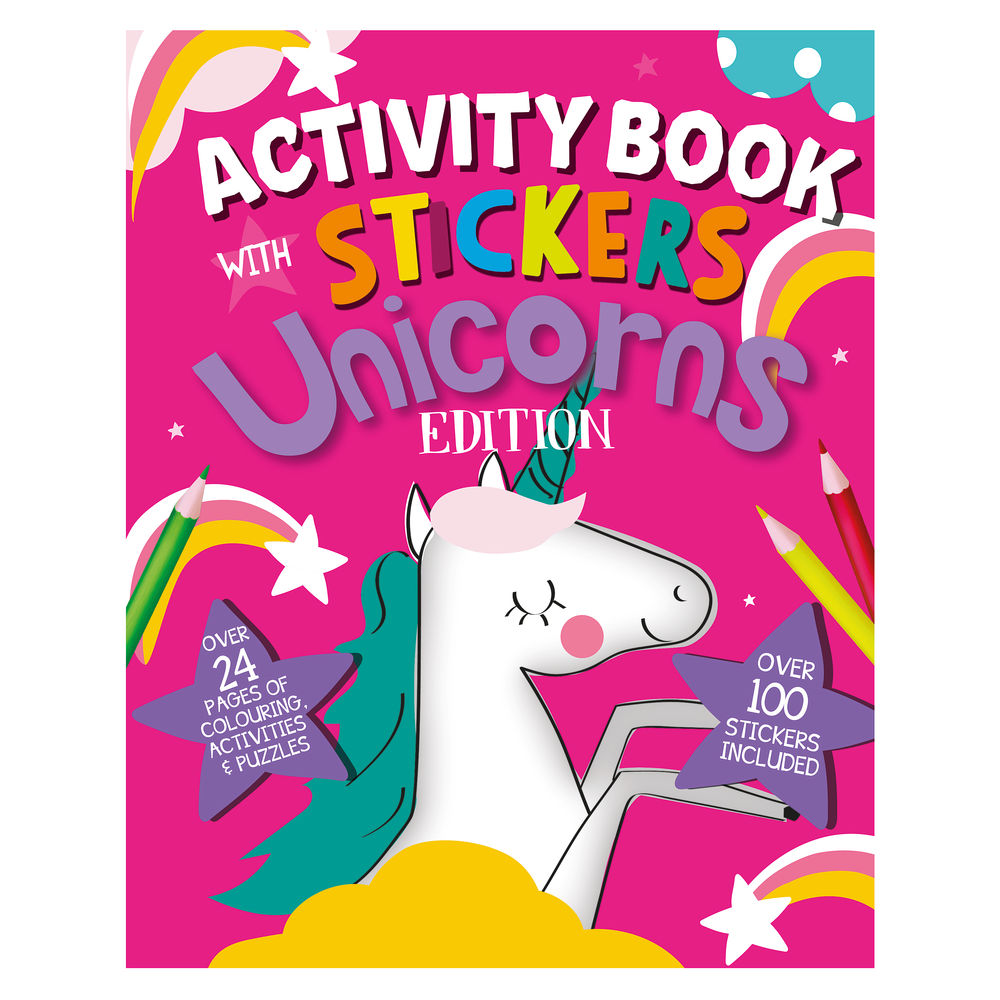 Unicorn Activity Book with Stickers (Pack of 12) 26079-UNIC