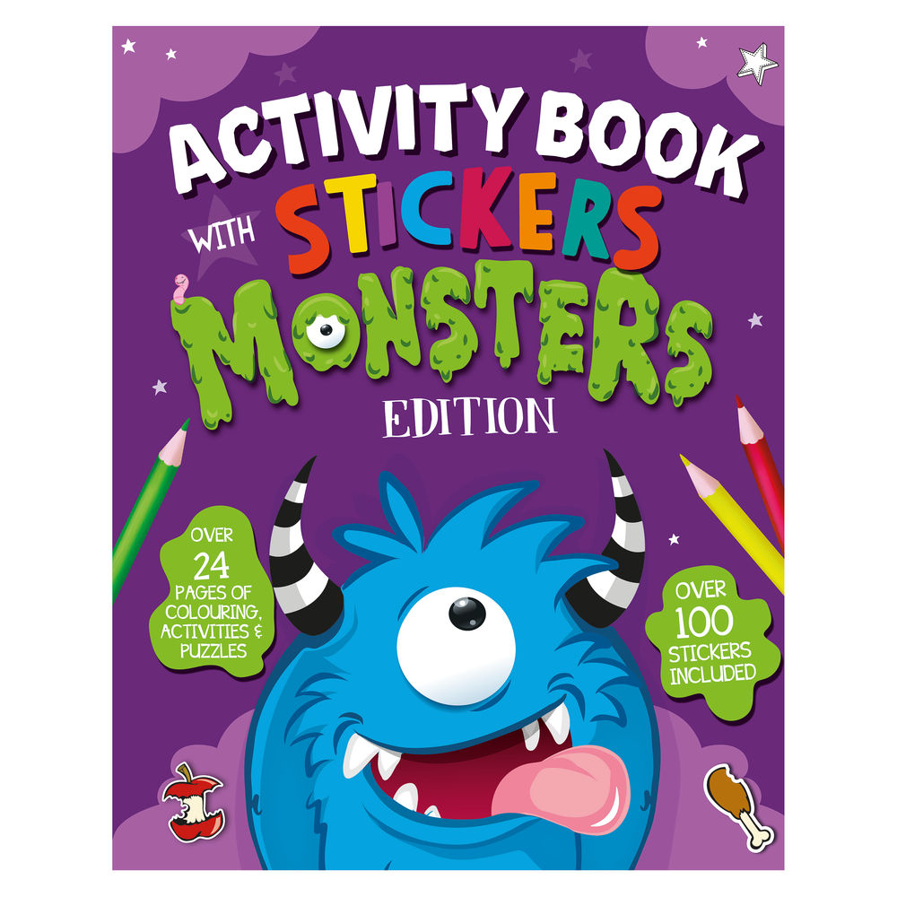 Monster Activity Book with Stickers (Pack of 12) 26073-MONS