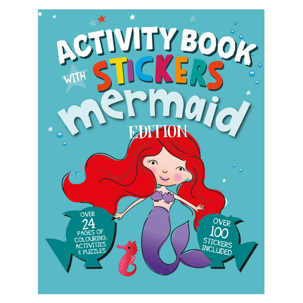 Mermaid Activity Book with Stickers (Pack of 12) 26070-MERM