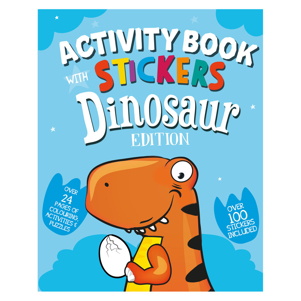 Dinosaur Activity Book with Stickers (Pack of 12) 26064-DINO