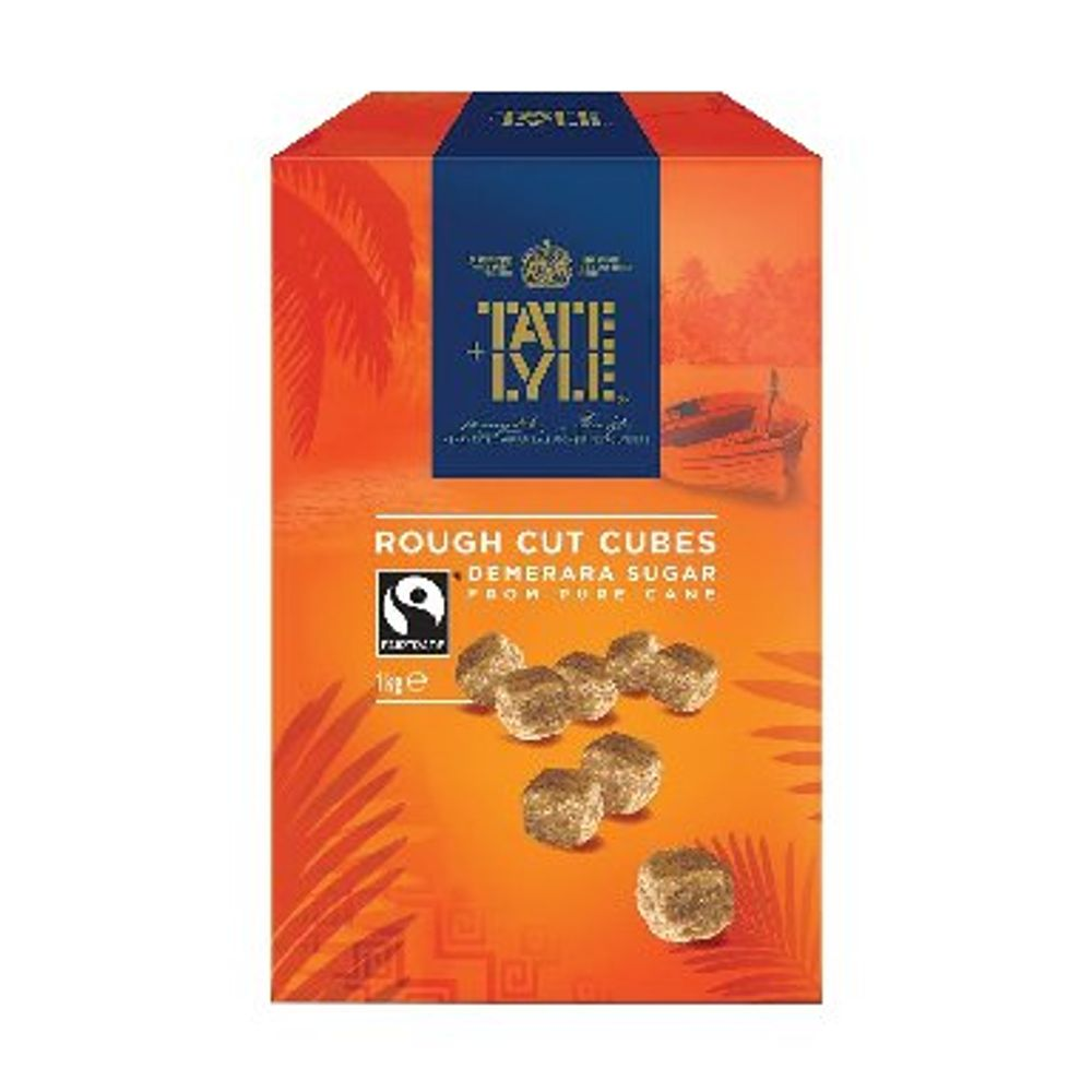 Tate & Lyle 1kg Rough Cut Demerara Sugar Cubes - 21J1003