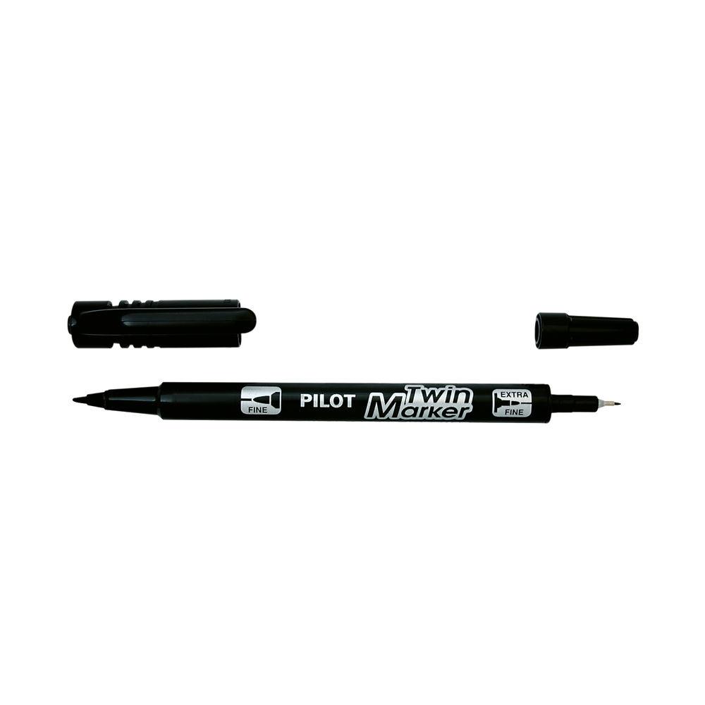 Pilot Begreen Twin Permanent Marker Fine Black (Pack of 10) 4902505342080