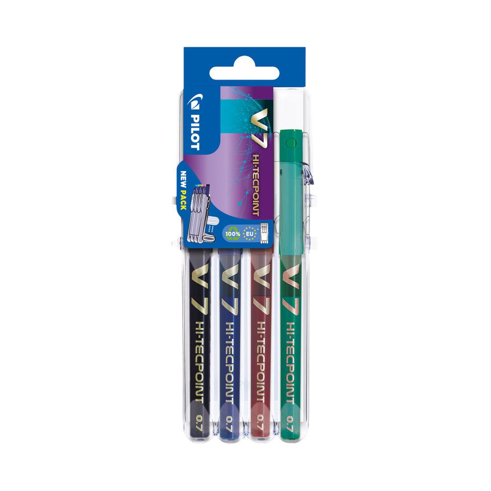 Pilot Set2Go V7 Rollerball Pens Assorted (Pack of 4) S2G573487