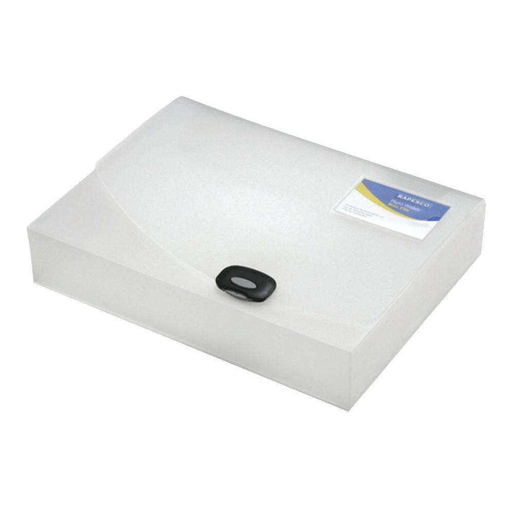 Rapesco Clear Rigid A4 Wallet Box File 60mm - HT17041