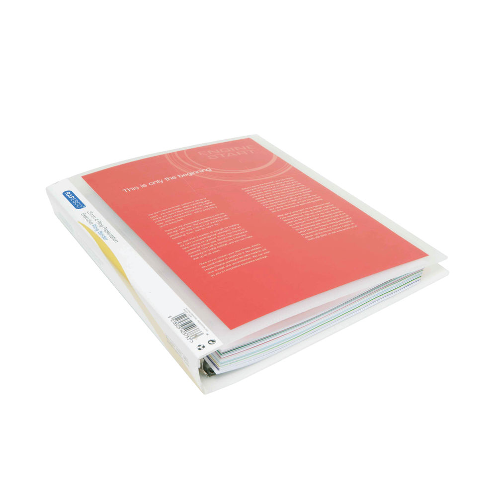 Rapesco Presentation A4 Clear Four-Ring Binder 25mm (Pack of 10) 0717