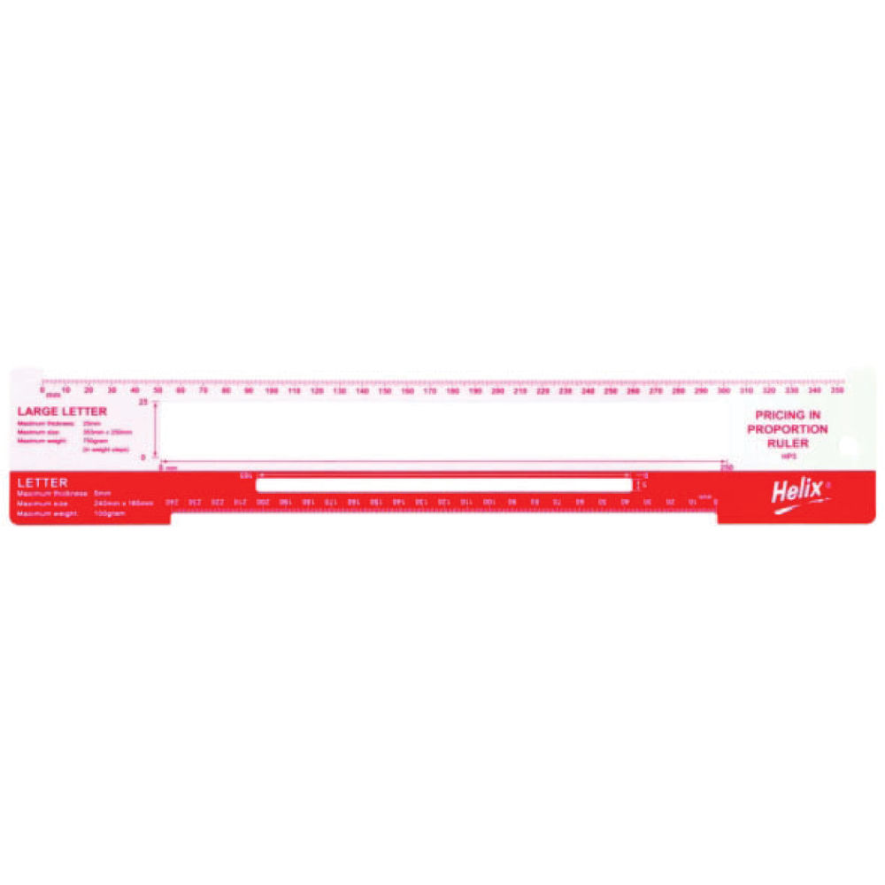 Helix Postal Charge Template, Pack of 10 - HX53232