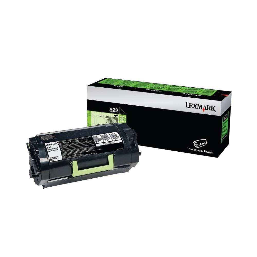 Lexmark 522 Black Toner Cartridge - 52D2000