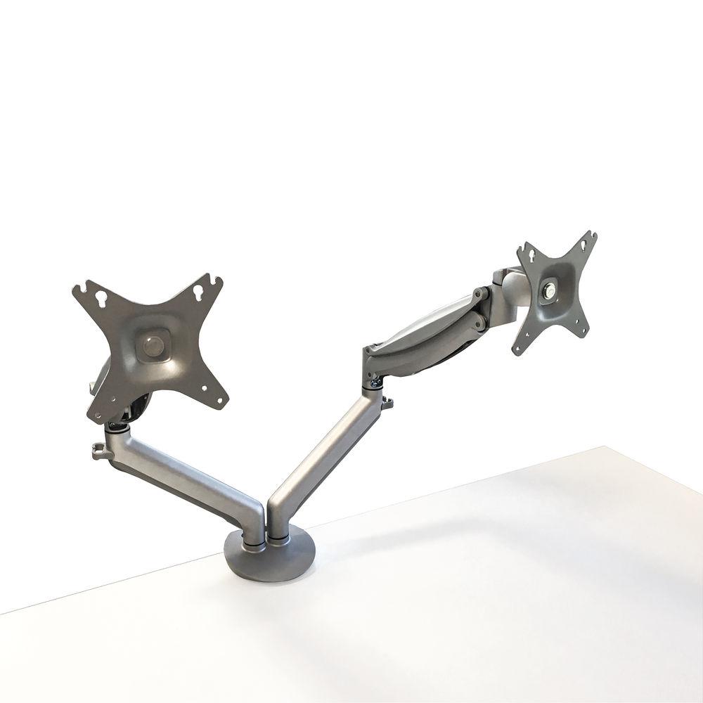 Contour Ergonomics Easy Move Double Monitor Arm Silver CE77693