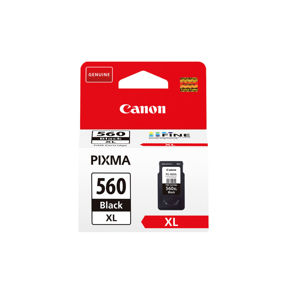 Canon PG-560XL Black Ink Cartridge - High Capacity 3712C001