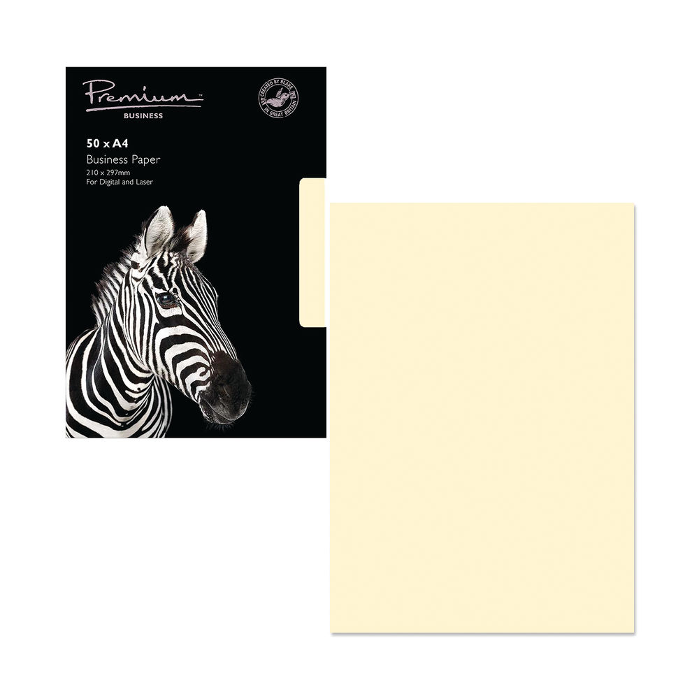 A4 Cream Paper 120gsm (Pack of 50) - 61676