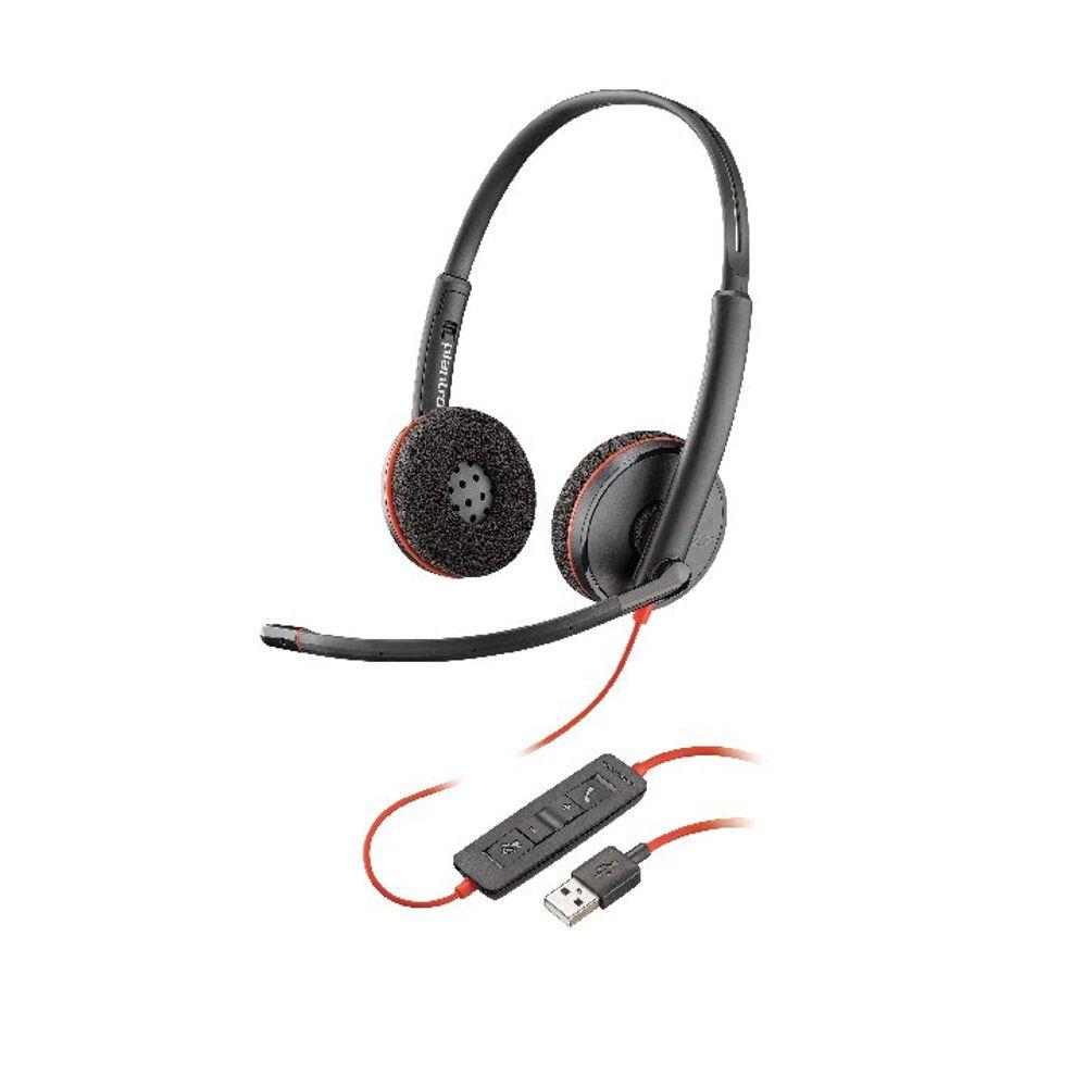 Plantronics Blackwire C3220 USB-A Duo Headset - 209745-101