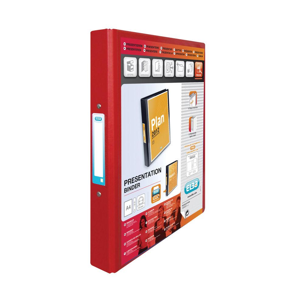 Elba Vision Red A4 25mm 2 O-Ring Binder - 100080890