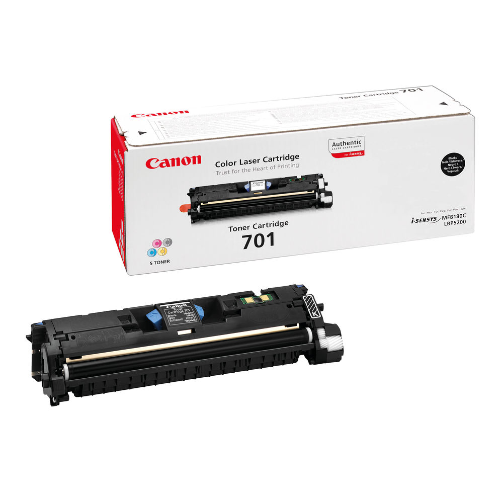 Canon 701 Black Laser Toner Cartridge - High Capacity 9287A003