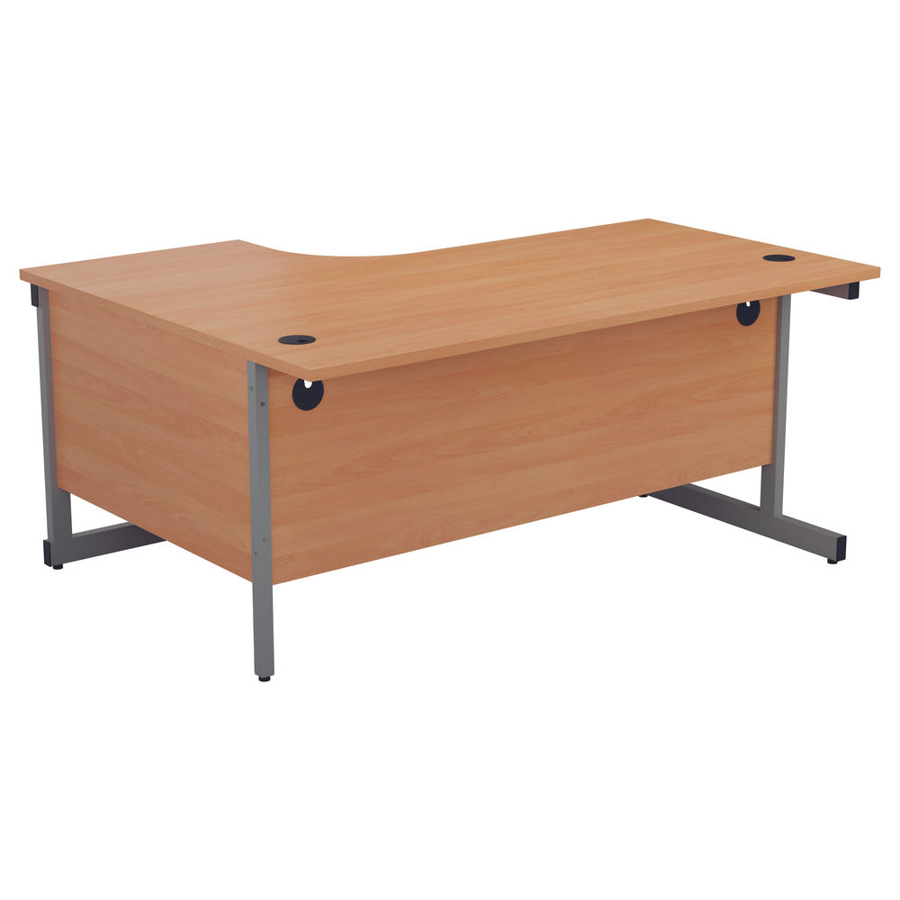 First 1800mm Beech/Silver Right Hand Radial Desk