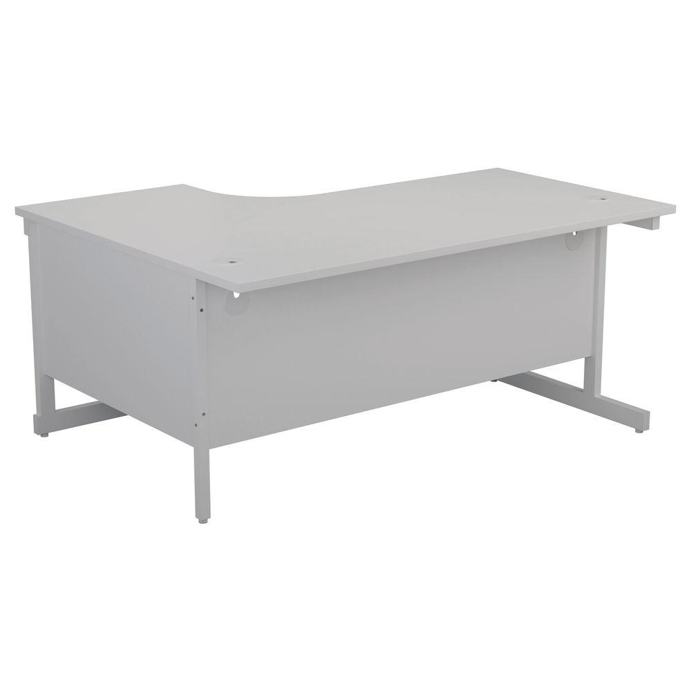 First 1800mm White/White Right Hand Radial Desk