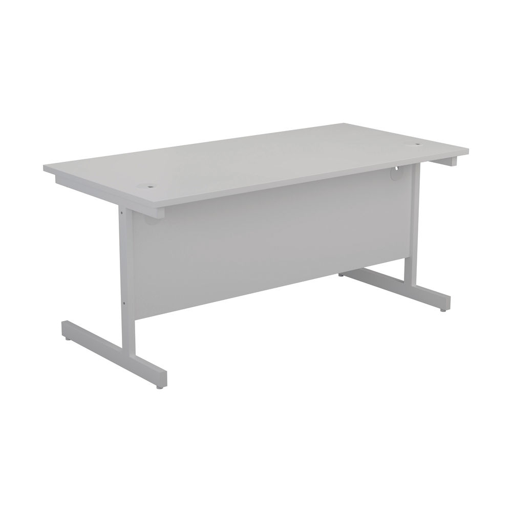 First 1200mm White/White Single Rectangular Desk