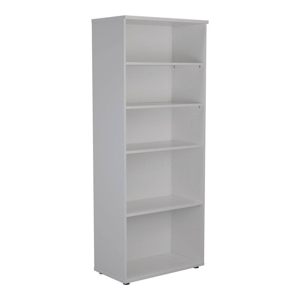 First 2000mm White Wooden Bookcase