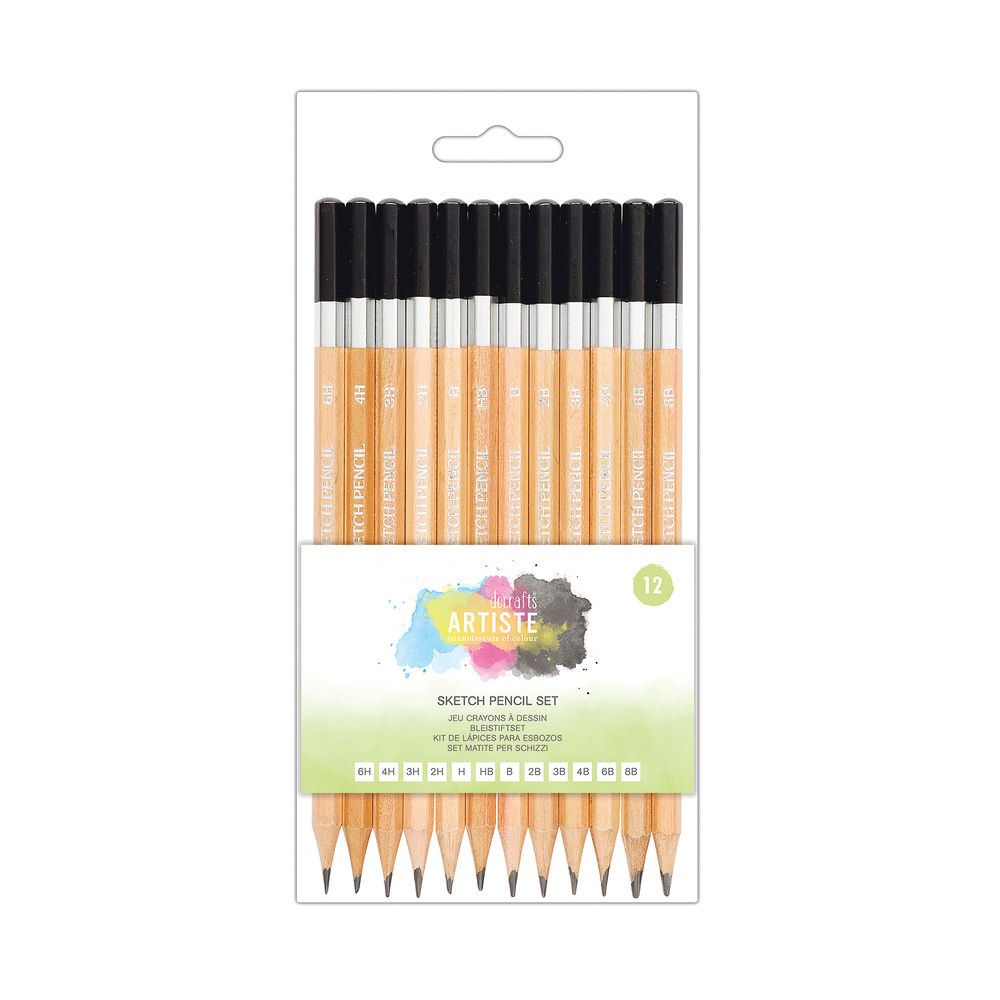 Sketching Pencils Wallet 12 Grades DOA (Pack of 12) 856106