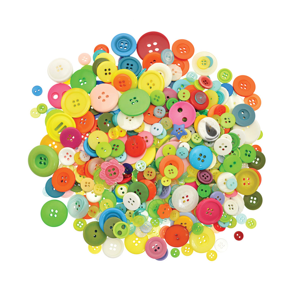 Standard Craft Buttons 500g Assorted Colours and Sizes DLBU4510